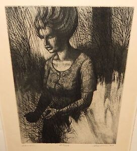 "DONALD SEXAUER ""WOMAN"" LIMITED EDITION HAND SIGNED ETCHING"