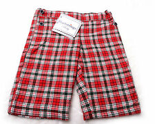 HARTSTRINGS TODDLERS PANTS Lined Flannel Size 0-3 months Plaid  NWT NEW
