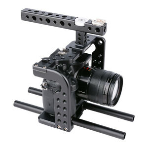 Aluminum Camera Cage Ring Stabilizer With Handle for Panasonic Lumix GH5/GH5S