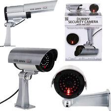 Manichino TELECAMERA DI SICUREZZA FINTA LED ROSSO LAMPEGGIANTE SORVEGLIANZA CCTV Indoor Outdoor miliardi