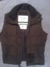 Abercrombie & Fitch Khaki Down Filled Gilet Sleveless jacket Size S