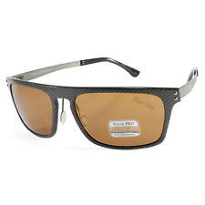 Serengeti Ferrara 7897 Charcoal Carbon Fibre/Brown Polarised Mens Sunglasses