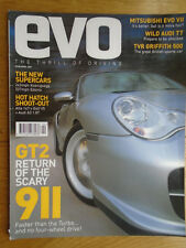 Evo No 30 Apr 2001 911 GT2, Evo VII, TVR Griffith 500