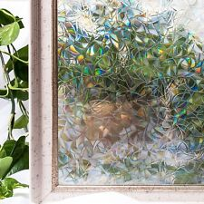 3D VIEW FROSTED STAINED STICKER GLASS STATIC CLING PRIVACY WINDOW FILM 17.7x78.7