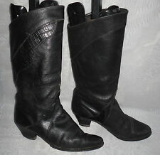 Unbranded Mid-Calf Pull on 100% Leather Women's Boots