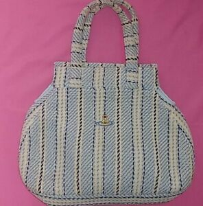 Vivienne Westwood Ladies Orb Blue White Towel Hand Bag