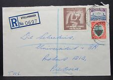 South Africa Registered Envelope to Petoria Silver Jub Südafrika Brief (Lot-6885