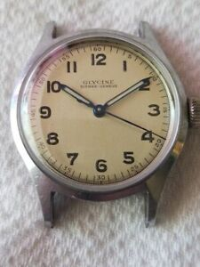 Selling a Used Vintage Glycine WristWatch in a Stainless Steel Case Circa 1940's