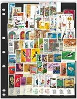 Israel Selection of 200 Different Stamps All Mint Unhinged With Tabs