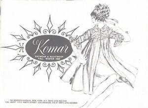 Rare 1969 Komar Seamprufe Lingerie Salesman Catalog Gowns Panties Robes Sexy