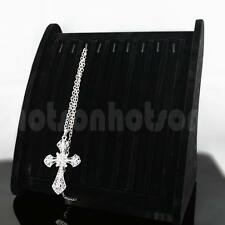 Black Velet Necklace Pendant Display Stand Box Storage- Hook