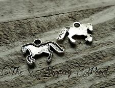 Horse Charms Pendants Antiqued Silver Stamping Blanks Western Charms 10 pieces