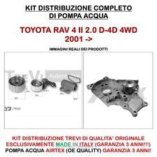 KIT DISTRIBUZIONE + POMPA ACQUA TOYOTA RAV4 II 2.0 D-4D