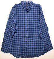 Polo Ralph Lauren Big & Tall Mens Blue Checks Performance Flannel Shirt NWT 3XB