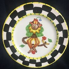 PRESENT TENSE MONKEY BUSINESS YELLOW 9 3/4 DINNER PLATE ITALY ANNE HATHAWAY NWOT