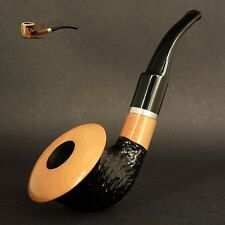 """HAND MADE WOODEN  TOBACCO SMOKING PIPE  no. 66  """" Calabash """"  Rustic White  Pear"""
