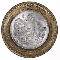 Raw 1993 Mexico 50 Pesos Silver Core Bi Metal Ninos Heroes Coin