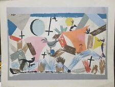 "Paul Klee Vintage Serigraph ""Nesting Birds"" 20""×26"" Rare"