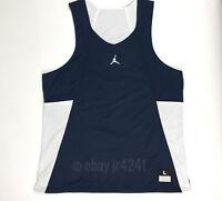 Nike Jordan Men's L Team Flight Reversible Navy White Basketball Jersey Tank Top
