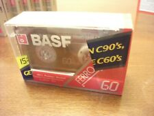 Blank Cassette tapes Ferro Extra Bundle of 2 BASF 60 min.  I~IEC I Norm SEALED