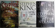 Lot of 3 Stephen King HC Everything's Eventual Desperation Black House (PG018)