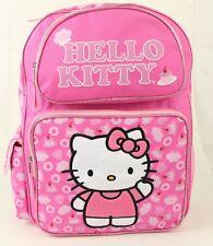 "Hello Kitty Pink Cake Girls 16"" Kids Backpack - Large School Bag-2221"