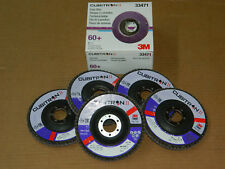 "1 BOX 3M 33471 CUBITRON II FLAP (5) DISCS 60+ GRIT GRADE 4.5"" x 7/8"" 115mmx22mm"
