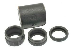 Asahi Pentax Manual Screw mount Extension Tube Set in Original Case