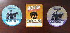 3x Green Day Revolution Radio Uno Dos Tre Working Aftershow VIP Pass unbenutzt