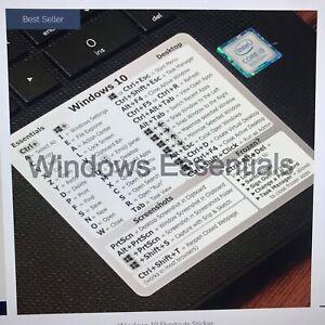 SYNERLOGIC Windows 10 shortcuts -durable waterproof vinyl sticker cool gift