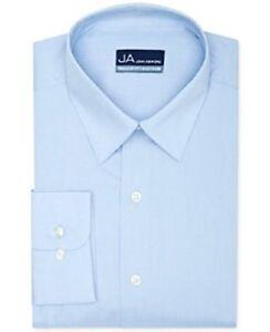 John Ashford Solid Dress Shirt Light Blue NEW 16 34/35