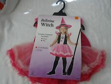 Halloween Child Ballerina Witch Toddler Costume Includes Dress/Hat 12-18months