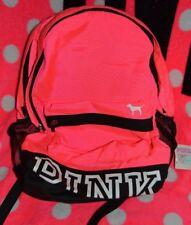 Victoria's Secret PINK NATION Campus Backpack School Neon White Dog Logo Rare