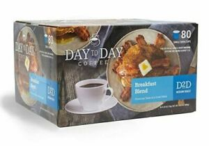 New Day to Day Coffee Breakfast Blend Keurig cups 80 count (K-Cups) Exp 7/22 1T
