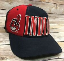 Cleveland Indians Vintage 90s Starter Snapback Adjustable Retro Tri Power