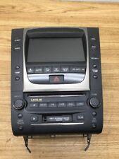 2006 Lexus GS300 450  AM FM CD Player Radio 6 CD Changer W/ Climate Control OEM