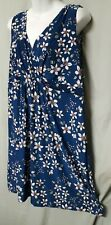 """Alfani Blue Nightgown Floral Knee Length Sleeveless Size 3XL  52"""" BUST"""