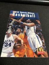 1998-99 Kentucky Wild Cats College Basketball Pocket Schedule Wayne Turner