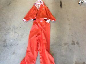 Grundens Rain Jacket and Bib Pants Set - Orange