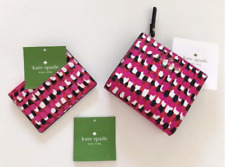 Kate Spade New York NWT $138 Wallet + Card Case 2PC Set Pink / Red Faux leather