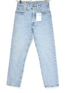 Womens Levis 501 High Rise Straight Leg PREMIUM Blue Crop Jeans Size 4 W24 L26