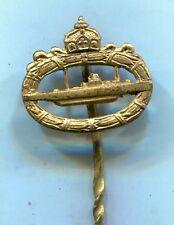 WW1 Imperial German Submarine U-boat Badge Stickpin