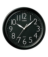 Casio Black Dial Wall Clock IQ-01-1R Analog - Large Numbers