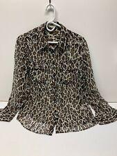 Equipment Silk Blouse Leopard Cheetah Sheer Sz S