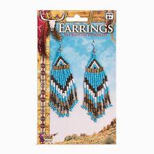 Ladies Native American Western Beaded Earrings Fancy Dress Indian Accessory