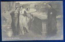 UN SALUTO DA FIRENZE illustrata Dante Alighieri no viaggiata anni 10 f/p #22181