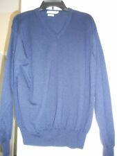 Peter Millar * 100% Merino Wool Golf V-Neck Sweater * Navy Blue * Mens L * EUC