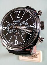 BNWT INGERSOLL MENS COOPER LIMITED EDITION BLACK DIAL/LEATHER AUTOMATIC WATCH