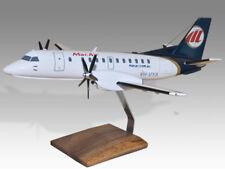 Saab 340B MacAir Solid Kiln Dry Wood Handmade Airplane Desktop Model