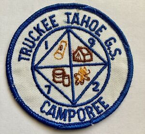 Truckee Tahoe California CA Vintage Girl Scout Patch 1970's GSA Round 1972